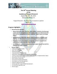 The 29th Annual Meeting of the Academy of Surgical Research ...