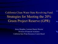California Clean Water State Revolving FundStrategies for Meeting ...