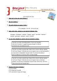 1 N°16 - Fiche active Les vacances de Jojo Nom: Classe ... - Averbode