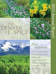 2011 Annual Report - The Denver Hospice