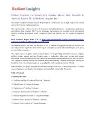 Global Vinylene Carbonate(VC) Market Share, Size, Growth & Analysis Report 2015 Radiant Insights, Inc.pdf