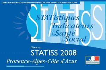 Mémento Statiss Paca 2008 - ARS Paca