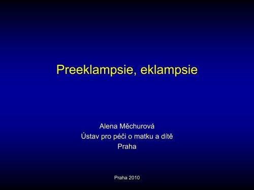 Preeklampsie, eklampsie