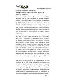 Press release 29 May 2013 WSCAD and Wibu-Systems: more than ...