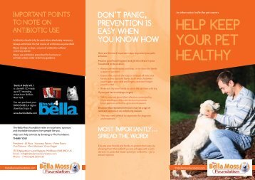 HELP KEEP YOUR PET HEALTHY