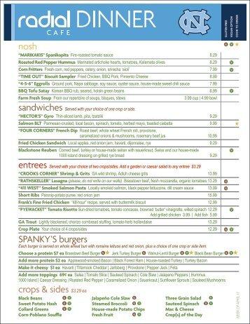 crops & sides $3.29 ea nosh SPANKY'S burgers - Radial