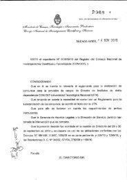 Reglamento - SICyT - Universidad Tecnológica Nacional