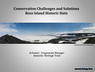 Conservation Challenges and Solutions Ross Island Historic Huts