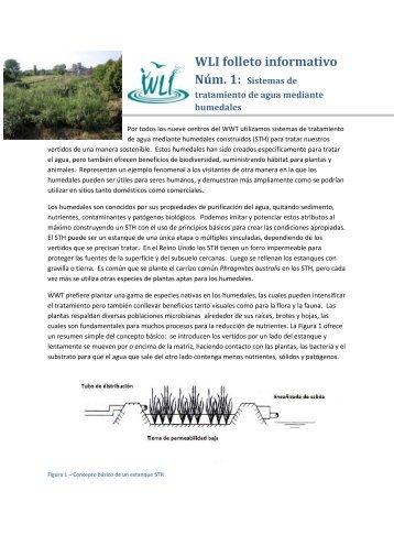 WLI Folleto Informativo 1 – Humedales Artificiales