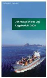 Jahresabschluss und Lagebericht 2008 - hci hammonia shipping ag