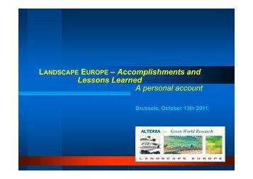 Action plan - presentation link - Landscape Europe