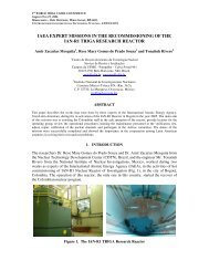 IAEA EXPERT MISSIONS IN THE RECOMMISSIONING OF ... - CDTN