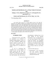 Isolation and Identification of E. coli from Cultured ... - Arabaqs.org
