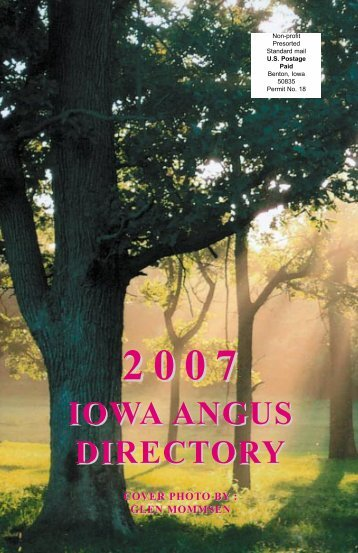 2007 iowa angus directory - Iowa Angus Association