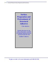 Surface Preparation and Pretreatment of Structural Adhesives -Ciba