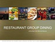 RESTAURANT GROUP DINING - New York Marriott Marquis