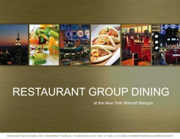 RESTAURANT GROUP DINING - New York Marriott Marquis