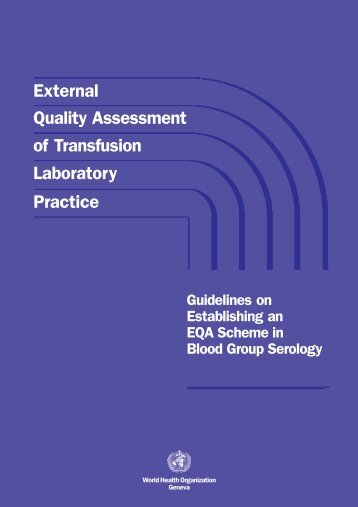 External quality assessment of transfusion laboratory practice