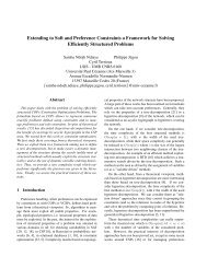 Extending to Soft and Preference Constraints a Framework for ... - LSIS