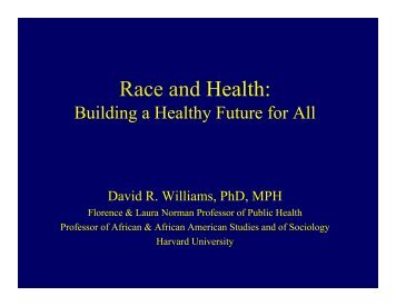 Dr. David Willams' Presentation for the Hastings Lecture