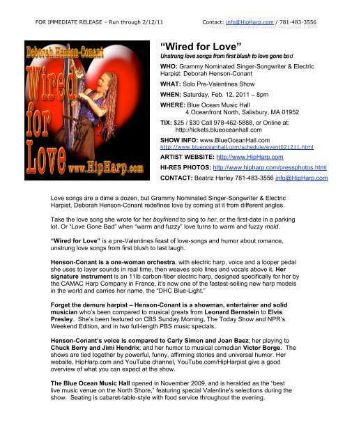 Press Release (PDF) - Deborah Henson-Conant