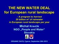 New Water Deal for European rural landscape - ORGANIC DAYS