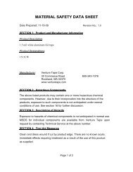 1511CW MSDS.pdf - Venture Tape