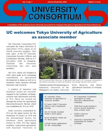 Jan-Dec 2006 issue - UC - searca