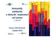 Immunità, ambiente e disturbi respiratori nel sonno