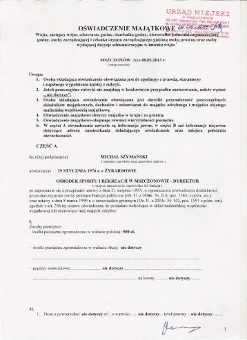 Szymański Michał - Dyrektor OSiR w Mszczonowie