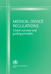 MEDICAL DEVICE REGULATIONS - World Health Organization