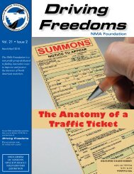 Driving Freedoms - National Motorists Association