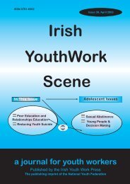 Issue 38: April 2003 - Youth Work Ireland