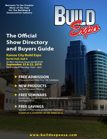 The Official Show Directory and Buyers guide - Build Expo