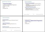 • Programmierparadigmen • Imperatives vs. objektorientiertes ...