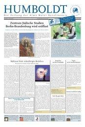 Zentrum Jüdische Studien Berlin-Brandenburg wird ... - HU Berlin