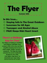 Summer 2013 - Pediatric Associates of Johns Creek, PC