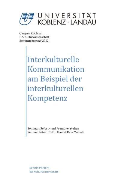 Interkulturelle Kommunikation By Daniel Von Drachenfels 13