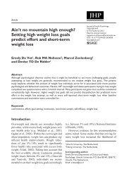 Ain't no mountain high enough? Setting high weight loss goals ...