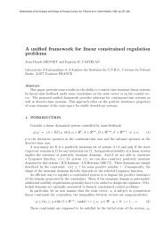 A unified framework for linear constrained regulation problems - LSIS