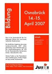 Seminar Bildung - Jusos Bezirk Braunschweig