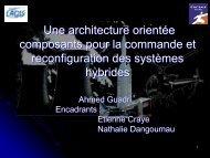Une architecture orientée composants pour la commande et ... - LSIS