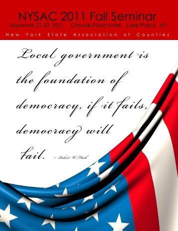 NYSAC 2011 Fall Seminar - New York State Association of Counties