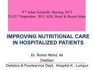 P4 Improving nutritional care and hospitalized patient
