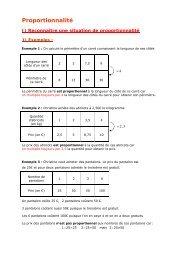 6e - Proportionnalité - Parfenoff . org