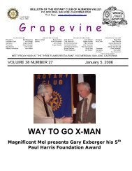 BULLETIN OF THE ROTARY CLUB OF ALMADEN VALLEY
