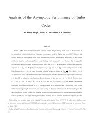 Analysis of the Asymptotic Performance of Turbo Codes - CST