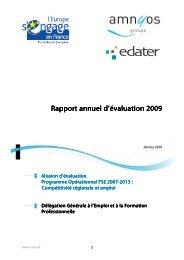 Rapport annuel d'évaluation 2009 - Fonds Social Européen en France
