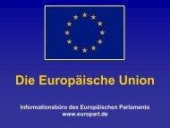 Vortragsfolien: Die Europäische Union