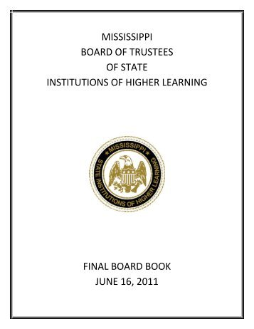 Mississippi Board of Trustees of State Institutions of Higher Learning
